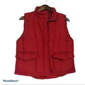 Cambridge Dry Goods Company Red Puffer Vest Size S
